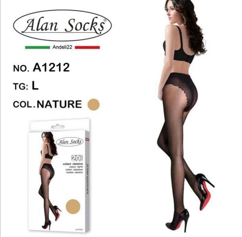 Collant Classico leggero 20 Den - Alan Socks A1212 disp. 3 taglie S, M,L