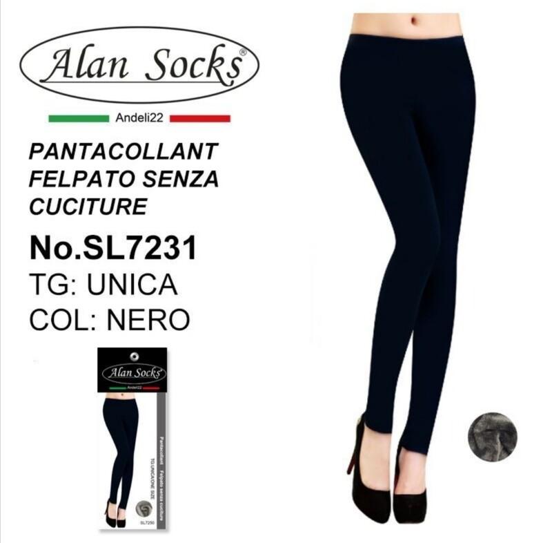 Pantacollant Felpato senza cuciture  200 Den - Alan Socks SL7231 taglia Unica