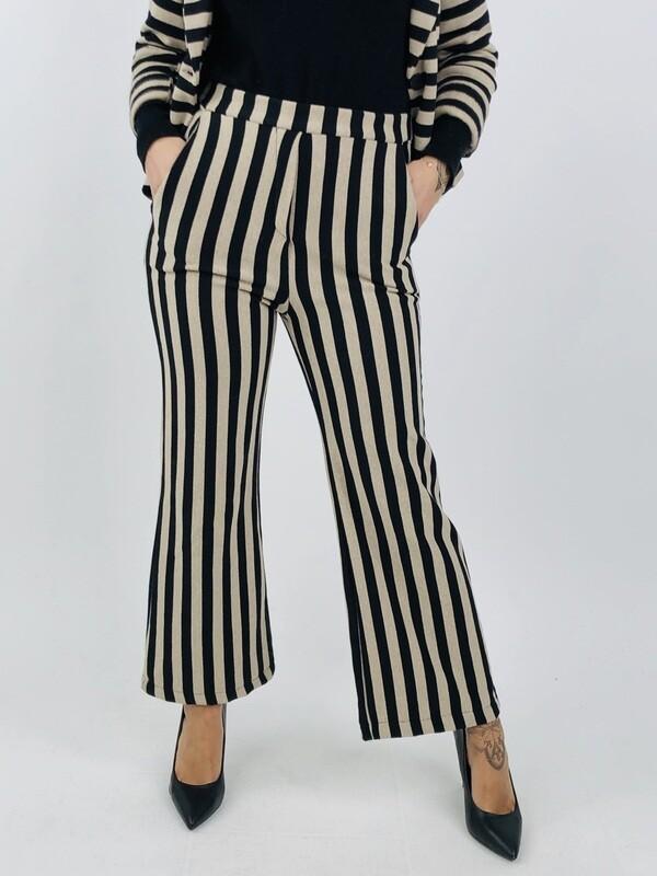 Pantalone lunga a righe di cotone -  YY9761