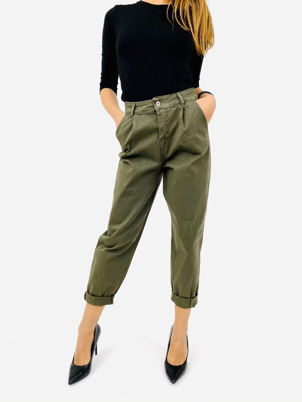 Pantalone lunga con risvolto - SRNXM1488