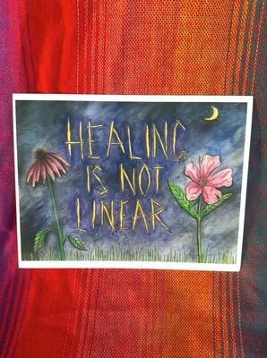 Healing Is Not Linear Postcard