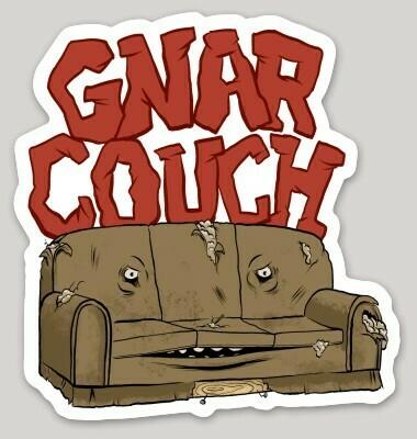 Gnar Couch Sticker