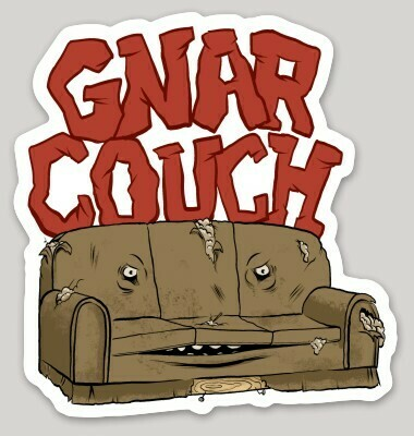 Gnar Couch Sticker