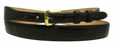 """3/4"""" Black Alligator Belt"""