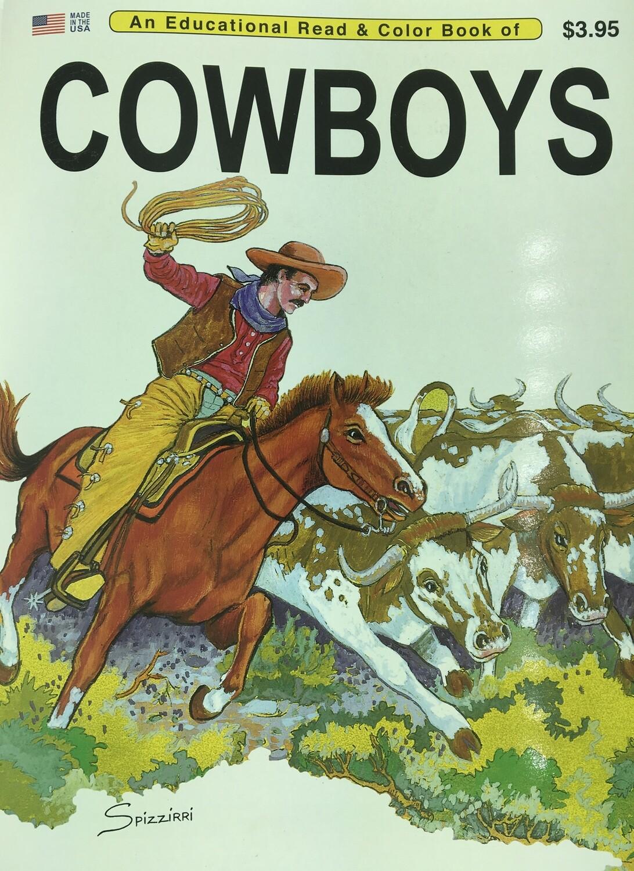 Cowboys Coloring Book