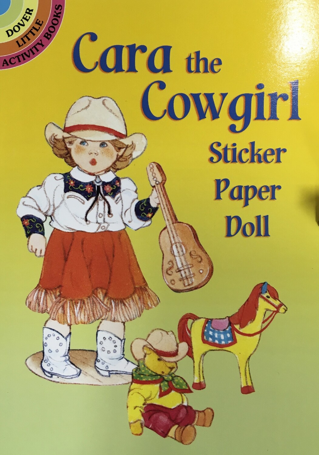 Cara the Cowgirl sticker Paper Doll