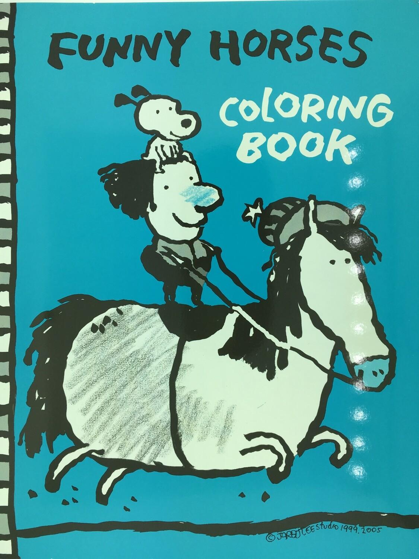 Funny Horses Coloring Book