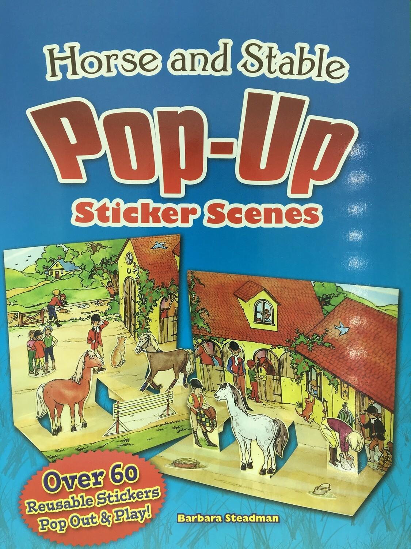 Horse & Stable Pop-Up Sticker Scenes