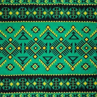 #6 Green/Black Southwest Wild Rag