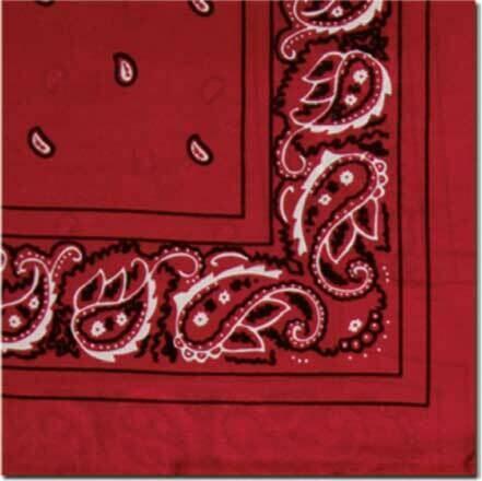 Red Silk Bandana Wild Rag