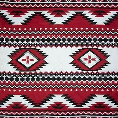 #4 Red/Black Southwest Wild Rag
