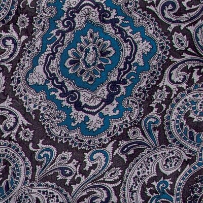 Blue/Silver Paisley Wild Rag