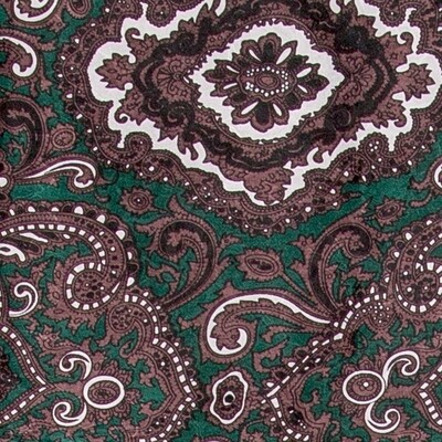 Green/Chocolate Paisley Wild Rag