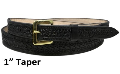 """Black Basket 1"""" Taper Belt"""