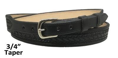 """Black Basket 3/4"""" Belt"""