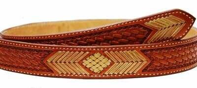 Basket Braid Straight Belt