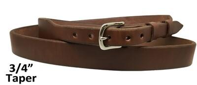"Plain 3/4"" Taper Belt"