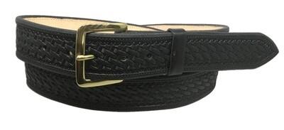 Black Straight Bskt Belt