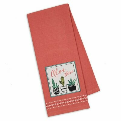 Aloe There Tea Towel