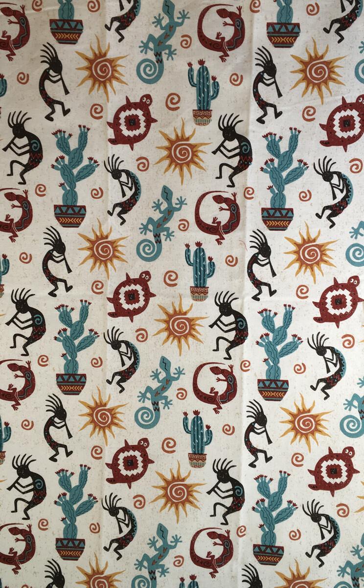 Kokopelli Print Tea Towel