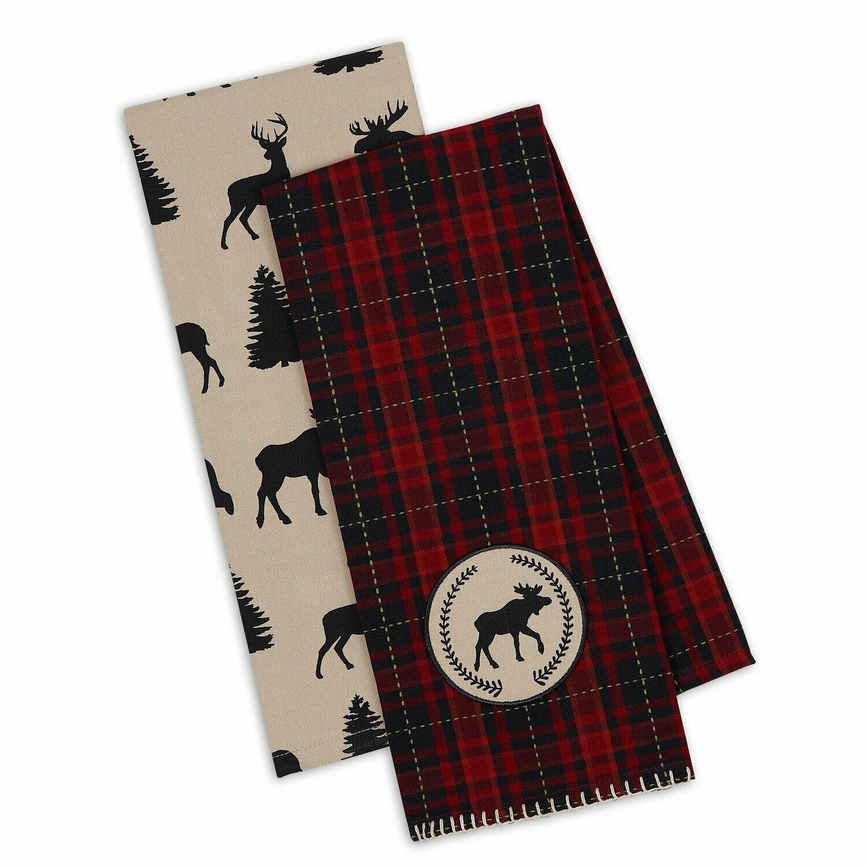 Moose Woods Tea Towel Set