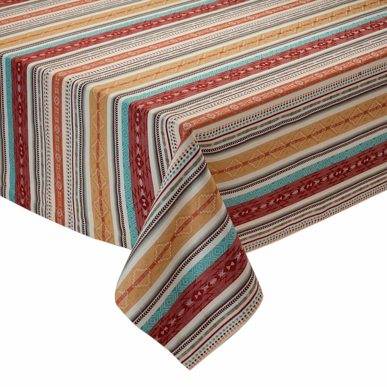 Mesa Stripe Jacquard Tablecloth 60x84
