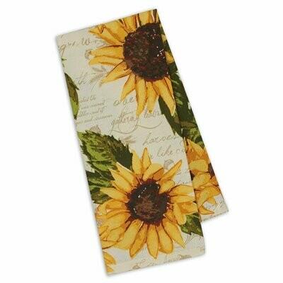Rustic Sunflower Tea Towel