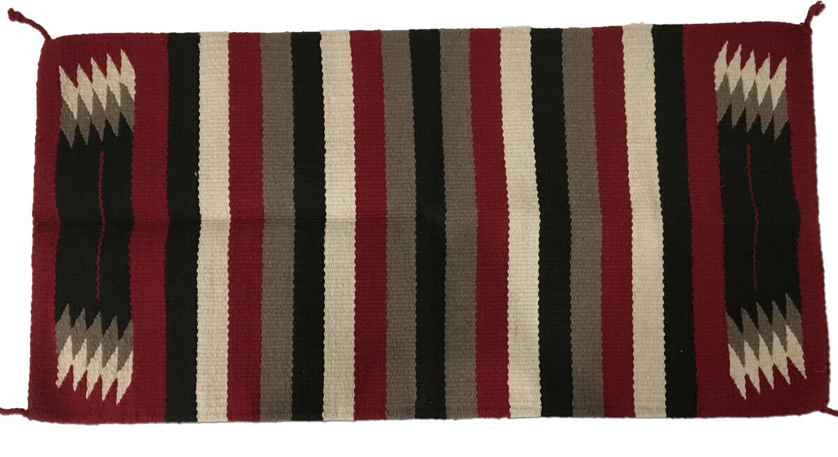 Hvy Saddle Blanket Zia Red/Black