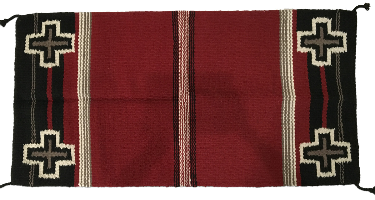 Hvy Saddle Blanket Lg Cross Red