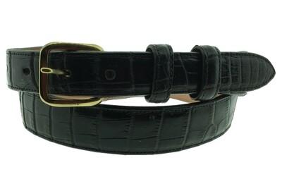 """1"""" Black Alligator belt"""