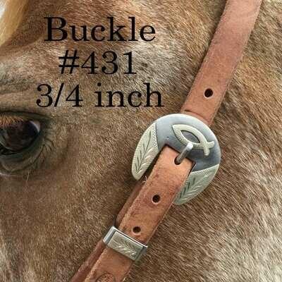 "3/4"" Strap headstall w/buckle 431"