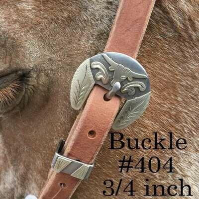 "3/4"" Strap headstall w/buckle 402"