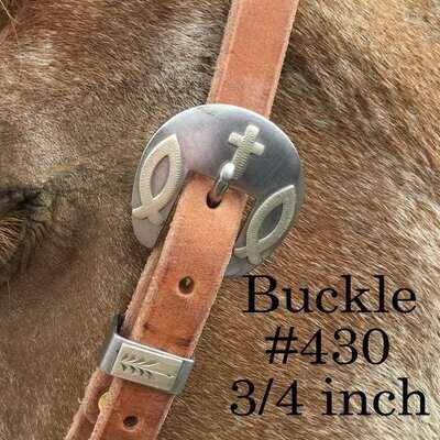 "3/4"" Strap headstall w/buckle 430"