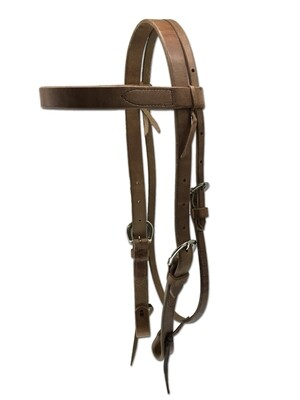 """4-102 1""""Double Adjust Headstall with Buckle BH7TD"""