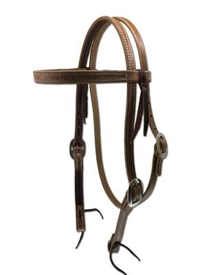 Latigo lined browband  Headstall