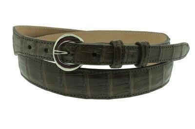 "3/4"" Brown Alligator Belt"