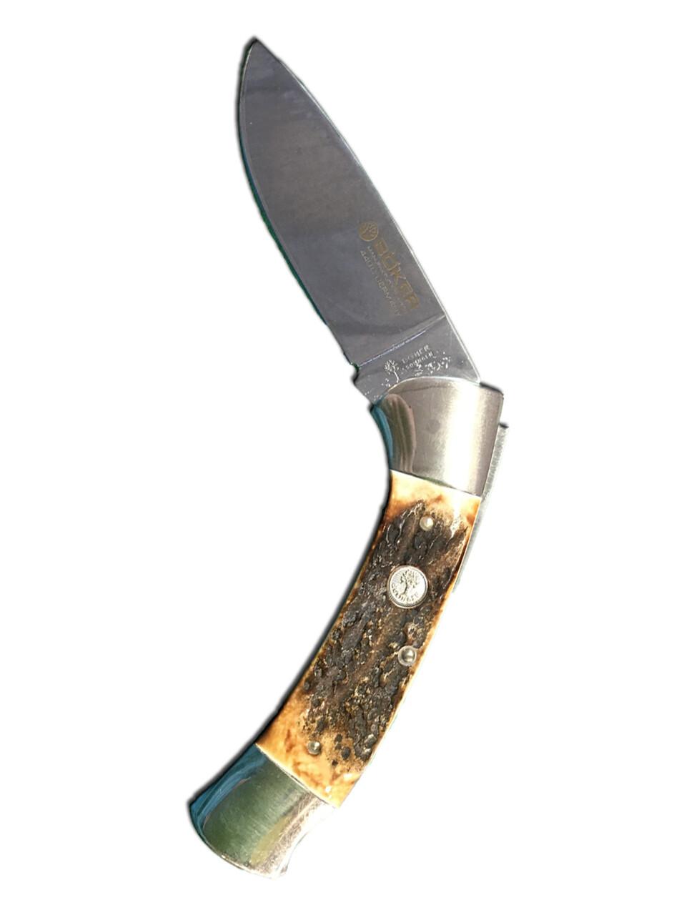 114000 Stag folding lockblade hunter boker 51/4