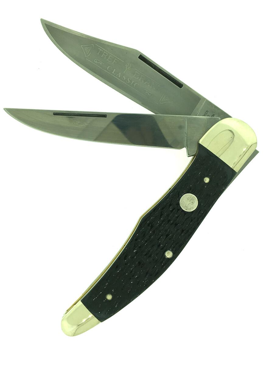 112020 5 1/4 jigged Grey Bone Folding hunter boker