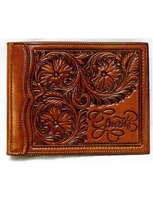Flower Carved Guest Book