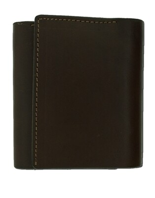 Chocolate Plain Trifold Wallet