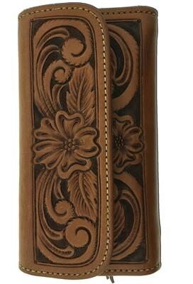 Floral Carve Ladies Wallet