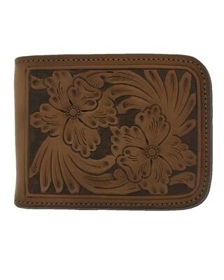 Floral Carve Wallet