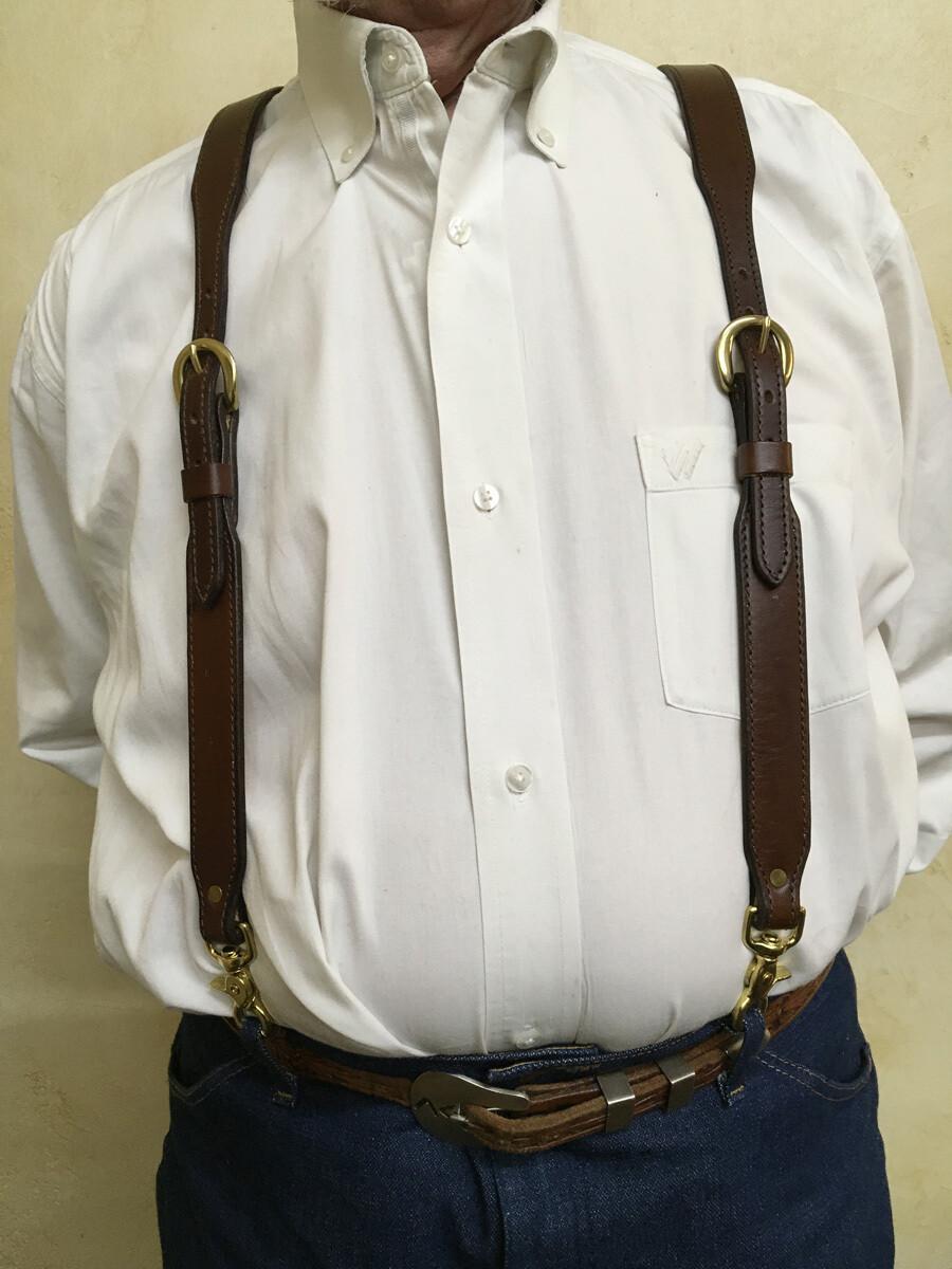 Chocolate Plain Suspenders