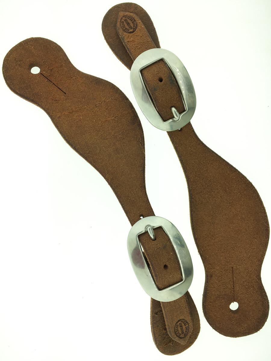 Rough Out Plain Brazos Spur Leather