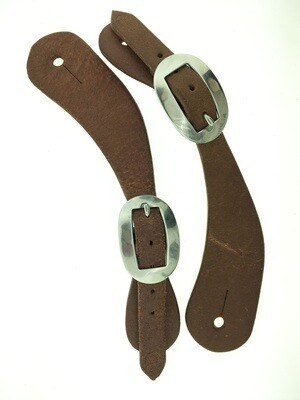 Rough Out Plain Curved Spur Leather