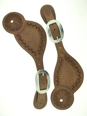 Rough Out Carlos Cheyenne Spur Leather
