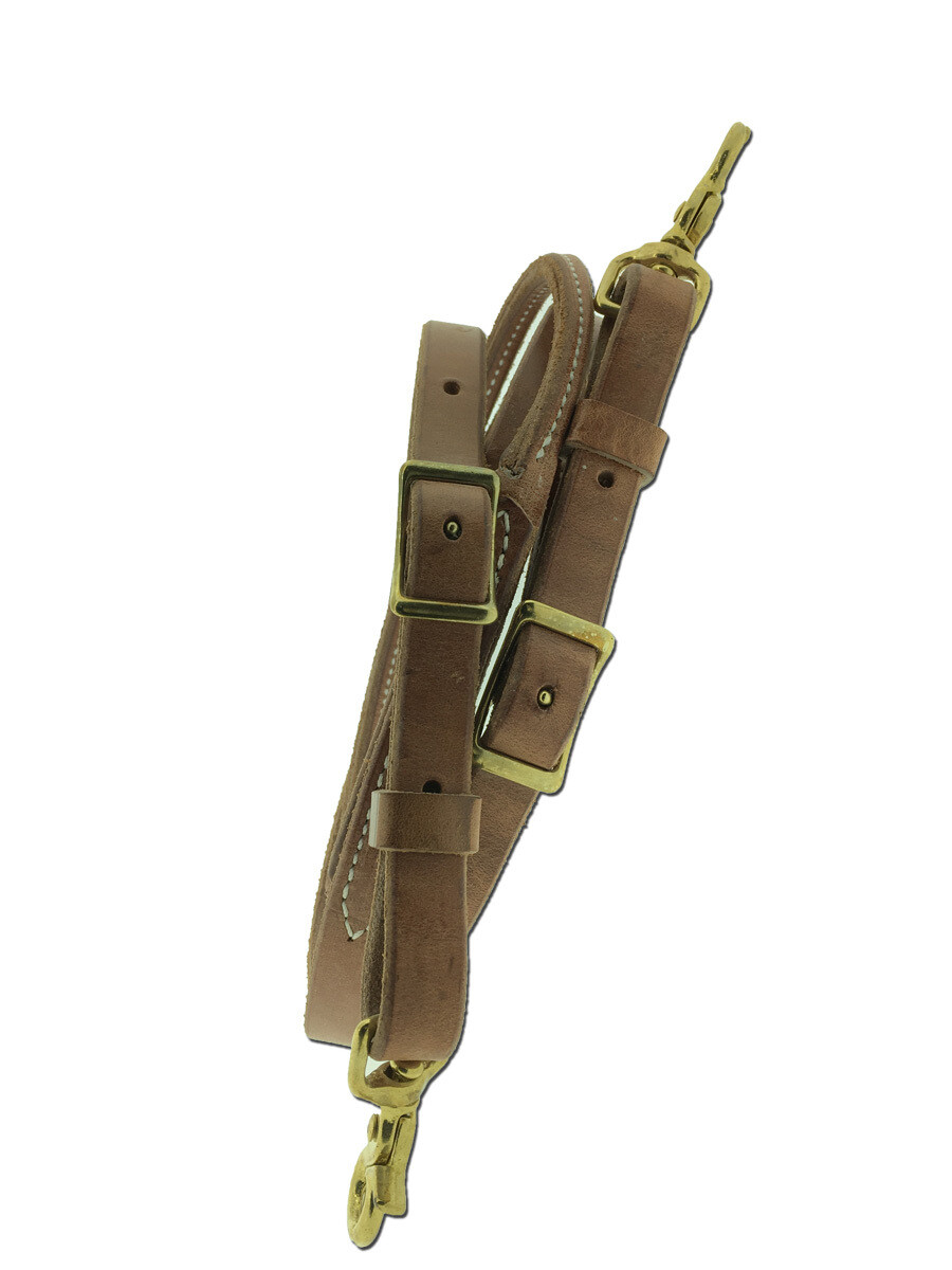 50-1508 Round Harness Leather 8' Roping Reins