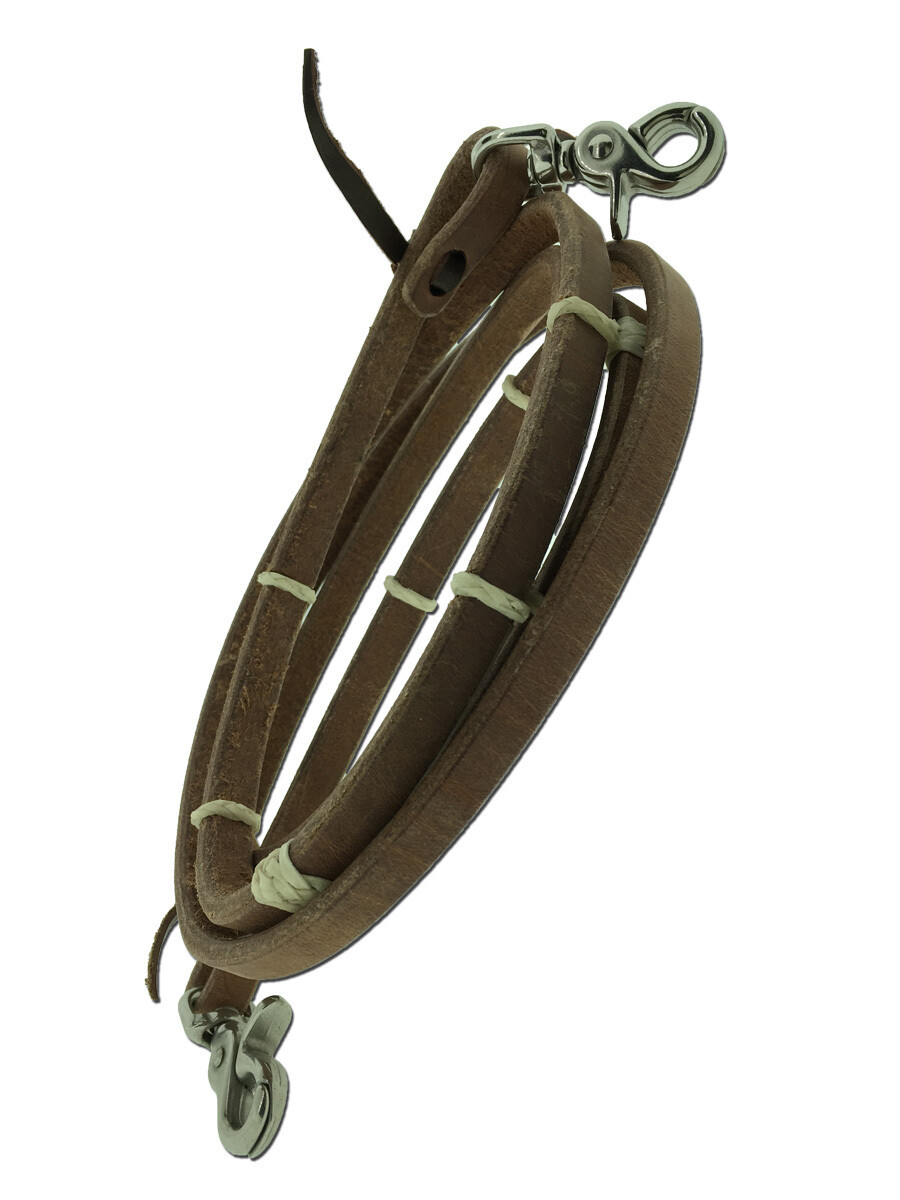 """TBH46WR 1/2"""" Harness Roping Reins w/Natural RH Knots"""
