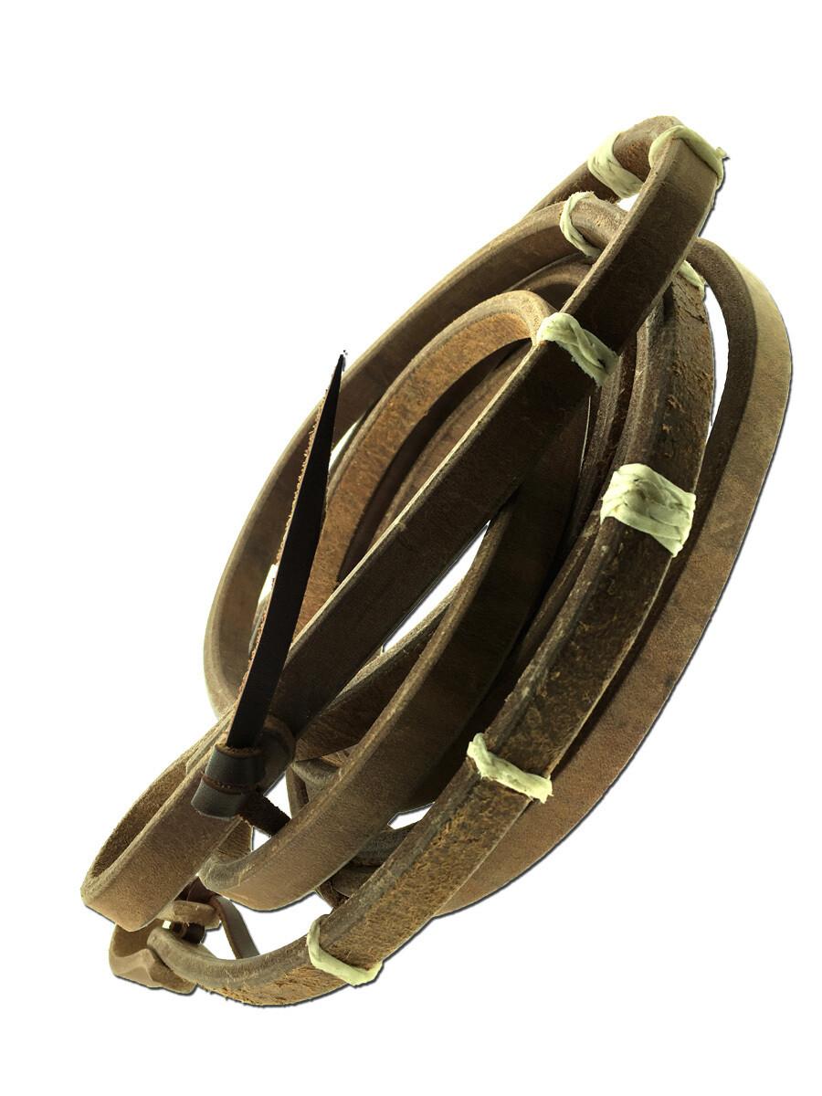 TBH41WR Harness Split Reins w/Natural RH Knots 2-36