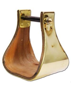 Online Only Brass Bell Overshoe Stirrups